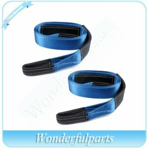 3 X 10ft Tow Strap Winch Tree Saver Protector Snatch Recovery Us Stock 2pcs