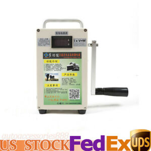 110v Outdoor Emergency Hand Crank Generator W Charger 5000mah Large Battery