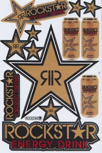 New Rockstar Energy Motocross Racing Graphic Stickers decals 1 Sheet st199