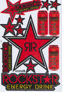 New Rockstar Energy Motocross Racing Graphic Stickers decals 1 Sheet st200
