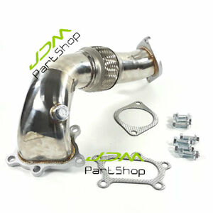 Stainless 3 00 Exhaust Downpipe For 2007 2013 Mazda Mazdaspeed 3 Disi mzr 2 3l