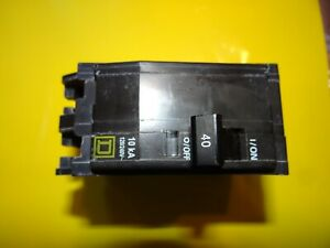 Used Square D Breakers Qo240 Classified 2 Pole 40a 240v Hacr Breaker Lot Of 2