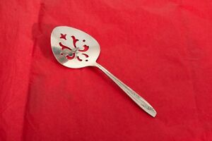 Vintage Wm Rogers Silver Plated Lady Fair 1957 Tomato Serving Spoon