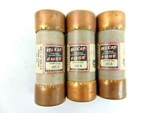 Bussmann Hi Cap Fuse Jhc 6 Lot Of 3 Fuses