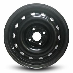 New 2004 Chevy Aveo 14x5 5 Inch Black Steel Wheel Rim 4 Lug 100mm