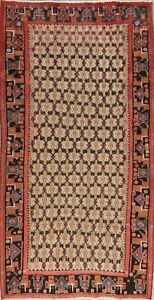 Black Friday Deal Traditional Meshkin Oriental Area Rug 4x8 Hand Knotted Carpet