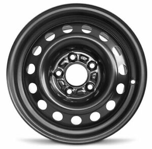 New For 2017 2018 Kia Forte 15x6 Inch Black Steel Wheel Rim 5 Lug 114 3mm