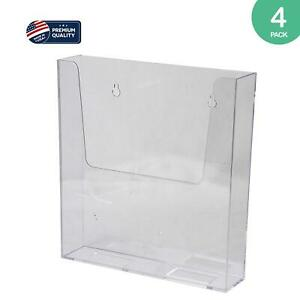 Clear ad Acrylic Wall Mount Brochure Holder 8 5x11 Plastic Hanging Flyer