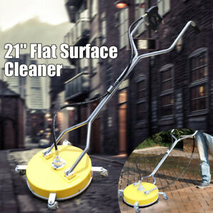 21 Flat Surface Cleaner High Pressure Washer Water Concrete Clean Trolley 100