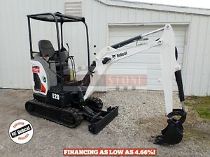 2015 Bobcat E20 Mini Excavator Orops Aux Hydraulics 2 Speed 13 9 Hp Diesel