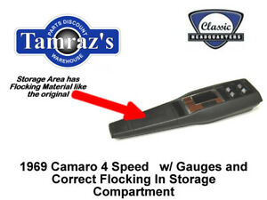 1969 Camaro 4 Speed Trans Center Console Kit W Gauges Preassembled Style