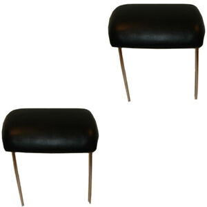 70 72 Gm A X Body Models Headrest Assembly For Bucket Seats Pair Black