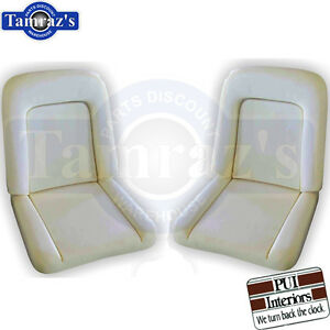 1963 Ford Falcon Front Bucket Seat Foam Buns Pair Pui New