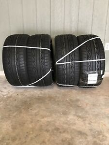 Set Of 4 Firestone Firehawk Indy 500 Wide Oval Tires