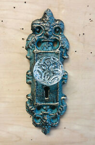 Cast Iron Decorative Door Knob Handle Glass Knob Antique Bronze
