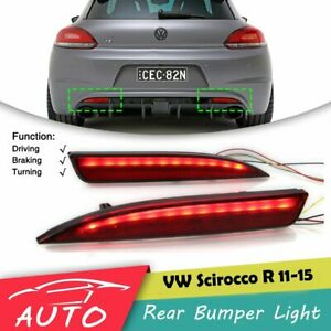 Led Rear Bumper Tail Light For Vw Scirocco R 2011 2012 2013 2014 2015 Brake Lamp