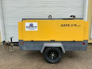 2011 Atlas Copco Xats375 Towable Diesel Air Compressor 375cfm 175 Psi 2910 Hours