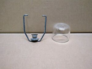 Vintage Gm A c Delco Glass Embossed Fuel Filter Bowl And Bail Assembly