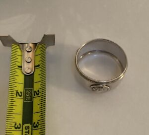 Believed To Be Gorham Medallion Napkin Ring Coin Silver Rare Unmarked