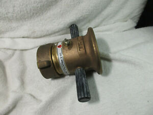 Elkhart Aa Brass Industrial Fire Hose Nozzle 2 1 2 Constant Flow Ss fog Master