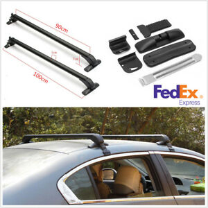 2pcs Alloy Car Top Rack Rail Luggage Carrier Baggage Roof Cross Bar accessories