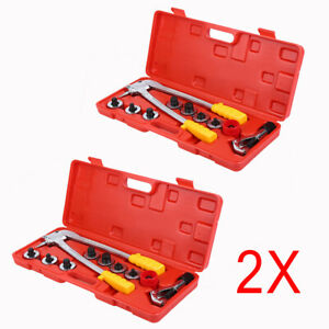 2set 7 Lever Tubing Expander 3 8 1 1 8 Swaging Punches Pipe Hvac Tools