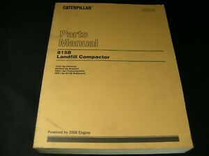 Caterpillar Cat 815b Landfill Compactor Dozer Parts Manual Book Catalog 17z1 up