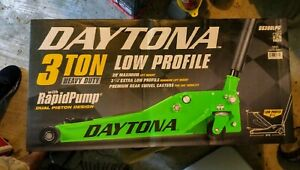 Floor Jack 3 Ton Low Profile Professional Jack W Rapid Pump Green Daytona
