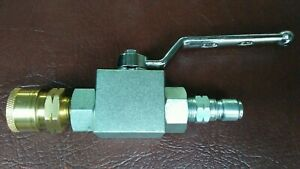 Pressure Washer Ball Valve 4500 Psi 3 8 Quick Connect Couplers Male female