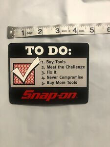 Genuine Official Snap On Tools Tech To Do List Sticker Decal Brand New