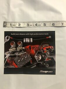 Snap On Tools Sticker Decal Build Your Dream With High Performance Tools