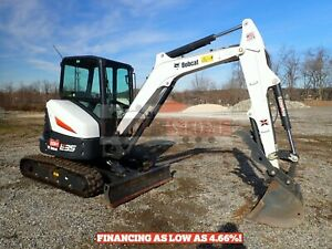2019 Bobcat E35i Mini Excavator Long Arm Cab Heat ac Aux Hydraulics Thumb