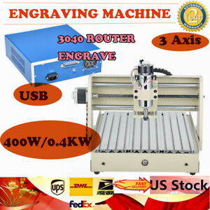 Usb 3 Axis Cnc 3040 Router Desktop Engraving Drilling And Milling Machine Ac110v