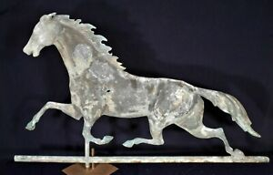 Antique 19th Century Running Horse Copper Weathervane