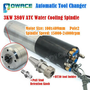 Atc 3kw 220v Or 380v Bt30 Automatic Tool Changer Water Cooling Cnc Spindle Motor