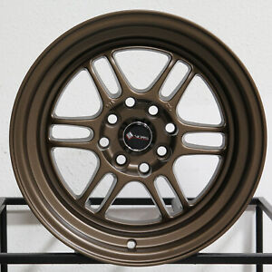 4 New 15 Vors Tr6 Wheels 15x8 4x100 4x114 3 20 Bronze Rims