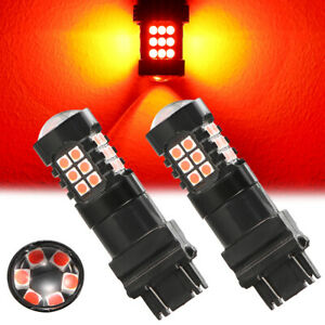 Red Led Strobe Brake Light Flashing Warning Bulbs Stop Tail Fits Ford F 150 F15