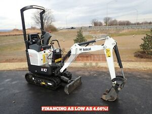 2019 Bobcat E10 Mini Excavator Orops 2 Speed Aux Hydraulics 49 Hours 10 2hp