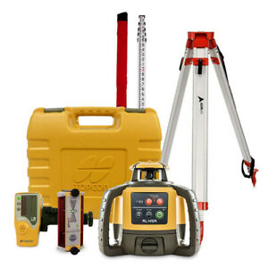 Topcon Rl h5a Construction Laser Level Kit With Tripod 14 Rod Inches Ls b100