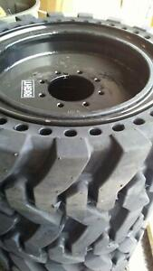 12x16 5 Solid Run Flat Skid Steer Tires Set Of 4 Free Shipping