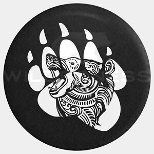Spare Tire Cover For Jeep Wrangler Camper Rv Jk Tj Yj Grizzly Bear Paw 20