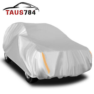17ft Universal Fit Full Car Cover Breathable Uv Rain Dust Resist Suv Protection