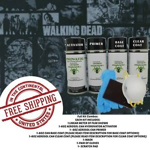 Hydrographic Film Water Transfer Hydro Dip Kit Activator 1 Meter Undead Zombie
