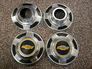 4 New Take Off 73 89 Chevy Truck Blazer 4wd Dog Dish Hubcaps 10 Poverty Caps K5