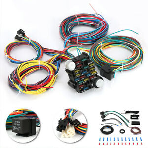21 Circuit Wiring Harness Street Rat Hot Rod Chevy Ford Universal Gm Ford Mopar