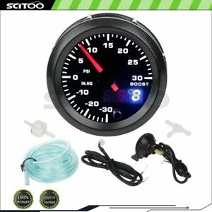 2 52mm Digital Pointer Led Car Turbo Boost Meter 30 30 Psi Pressure Gauge