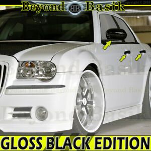 For 2005 2010 Chrysler 300 05 08 Magnum Gloss Black Door Handle Covers mirrors