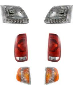Headlights For Ford F150 Truck 1997 2003 With Tail Lights And Side Marker Lights