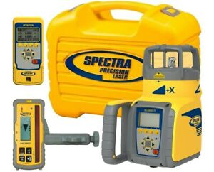 Spectra Precision Gl622 Infrared Dual Grade Laser Level Hl760 Receiver Remote