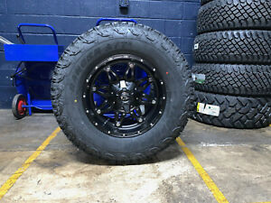 5 17x9 Fuel D531 Hostage Wheels Rims 33 At Tires Package 5x5 Jeep Wrangler Jk
